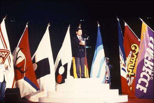 Le speech d'ouverture de Saburo Kawabuchi, président de la ligue