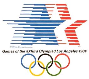 Le logo des J.O. de Los Angeles en 1984