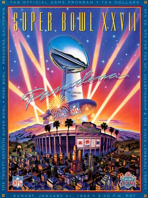 Poster officiel du XXVIIe Super Bowl