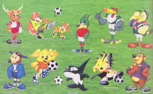Les mascottes de chaque club (cf. également les écussons)