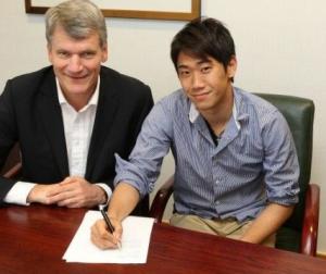 Shinji Kagawa signe son contrat de 4 ans aux côtés de David Gill