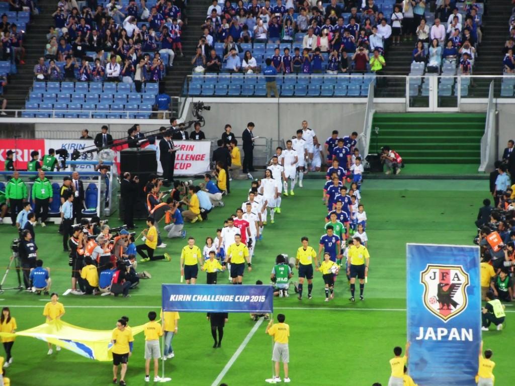 L'entrée des joueurs japonais et irakiens.