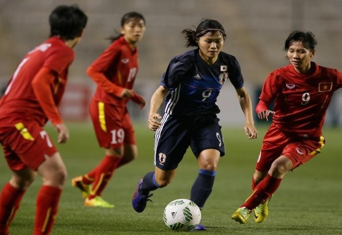 Malgré une large victoire face au Vietnam (6-1), les Japonaises n'iront pas aux JO de Rio. (photo: the-afc.com)