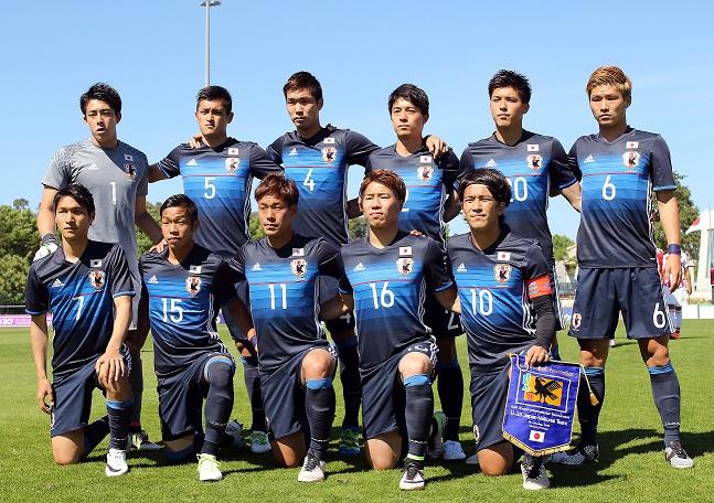 Le onze nippon contre le Paraguay